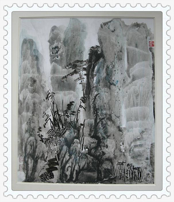 我的抽象水墨纸版艺术作品 相册 李增珍