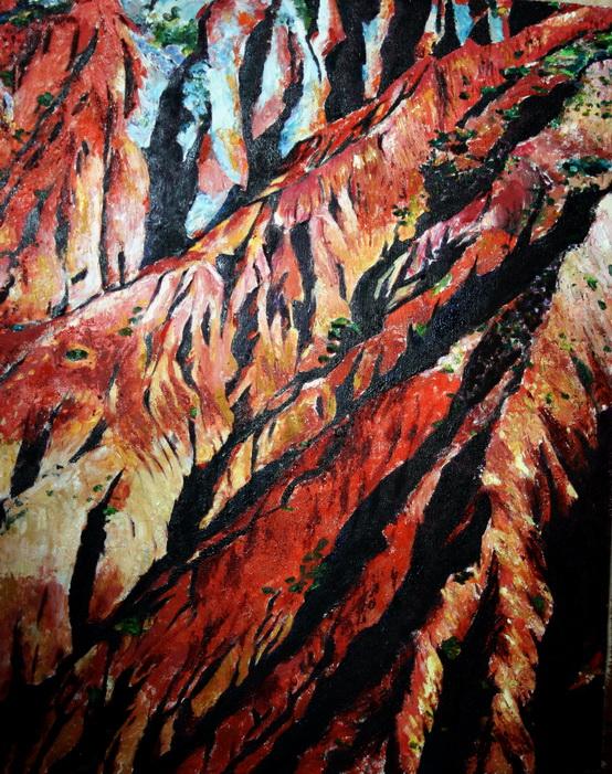 徐春安的油画--《岁月》 80*100