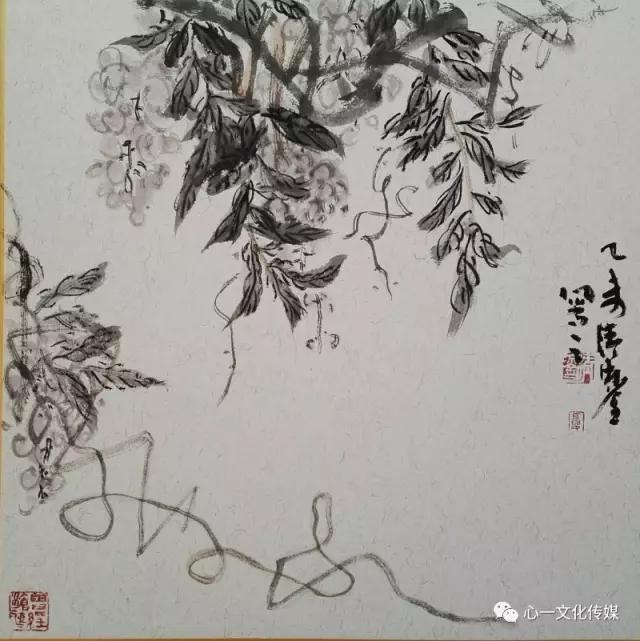 吴昌硕画藤,就是在写狂草!